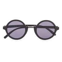 Black Round Frame Sunglasses - Men's Sunglasses - Shoes and Accessories