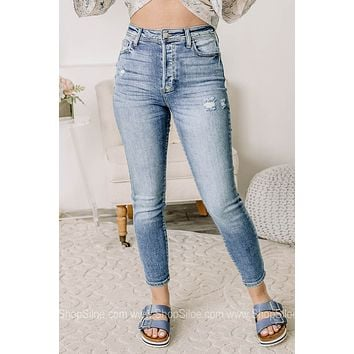 Change The World Distressed Skinny Jeans