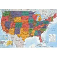 Map of the United States Poster 24x36