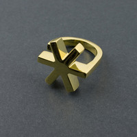Asterisk Gold Ring