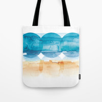 Sand and Surf Tote Bag by noondaydesign