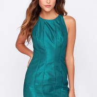 Keepsake Where I Find You Teal Blue Dress