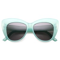 Women's Oversize Retro Cat Eye Sunglasses 9975