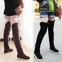 Over The Knee Flat Heel Warm Autumn Winter Long Boots