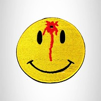 BULLS EYE HAPPY FACE Small Patch Iron on for Biker Vest SB803