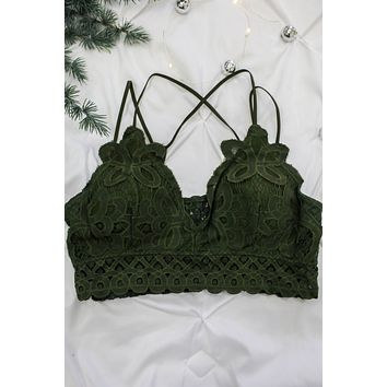 Believe In Love Bralette + Olive