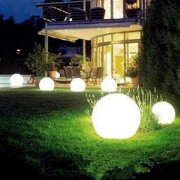 Solar Powered Waterproof Outdoor Ball Lights Lawn Yard Landscape Decorative