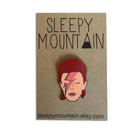 David Bowie Enamel Pin