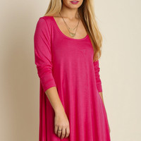 """Crystal"" Scoopneck Tunic, 5 colors"