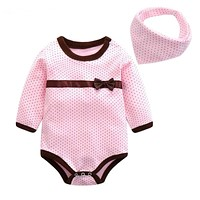 Baby Rompers Spring Baby Girls Clothes Kids Jumpsuit Spring Autumn Baby Clothing Cotton born Baby Clothes Romper