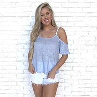 Bright As Day Cold Shoulder Top