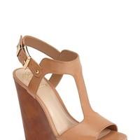 "Women's Vince Camuto 'Mathis' T-Strap Wedge Sandal, 4 3/4"" heel"