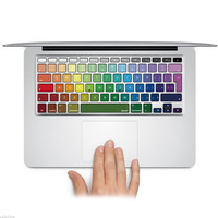 "Waterproof Rainbow Keyboard Cover Decal Sticker Protector for Macbook Pro/Air 11""13"" 15"" inch Laptop Keyboard Cover Skin"