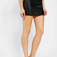Urban Outfitters - Dress The Population Ashlyn Leather-Mix Mini Skirt