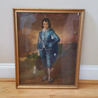Vintage Large The Blue Boy Framed Print by Thomas Gainsborough