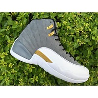 Air Jordan 12 Retro Cool Gray Gold Sneaker 40-47