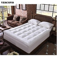 Spring and summer bamboo fiber mattress cotton filled massage mattress double mattress