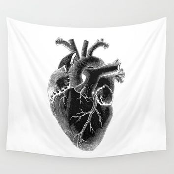 Black Heart ! valentine's day Wall Tapestry by luxorama