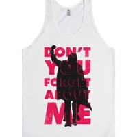Don't You Forget About Me (Breakfast Club Tank)-Unisex White Tank
