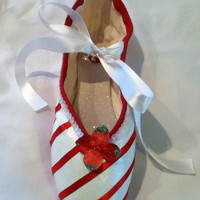 Candy Cane ... Decorated Pointe Shoe
