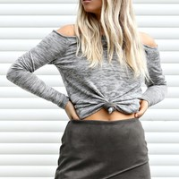 Sweet Talk Olive Suede Skirt