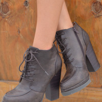 Step Out In Style Booties: Chocolate