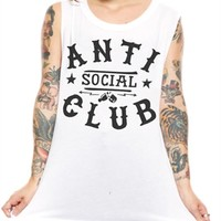 Social Decay - Womens Anti Social Tank- White