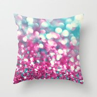 Twinkle Sparkle and Shimmer Throw Pillow by Sharon Johnstone