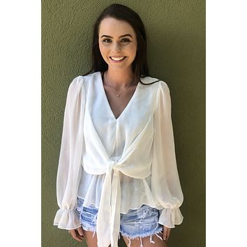 Summer Vibes Top- White