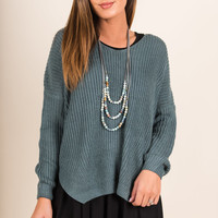 Wonderful Weather Sweater, Slate Blue