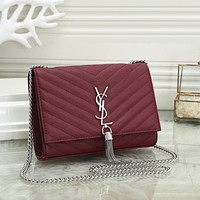 YSL Yves Saint laurent Fashion Leather Handbag Crossbody Shoulder Bag Satchel