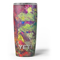 Green and Red Wet Oil Paint Canvas - Skin Decal Vinyl Wrap Kit compatible with the Yeti Rambler Cooler Tumbler Cups