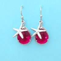 Choose your own color,Starfish, Earrings, Mermaid, Starfish, Jewelry, Simple, Birthday, Earrings, Silver, Gift, Jewelry