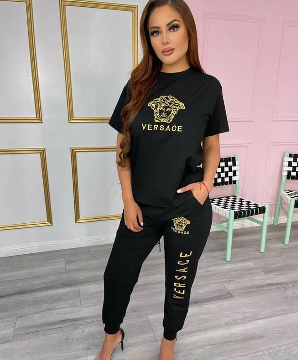 Image of Versace Women With short sleeves Top trousers Two-Piece