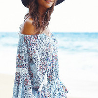 L*SPACE | Sunny Days Panama Hat - Midnight Blue