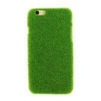 Cute Case For IPhone 7 7 Plus 6 3D Funny Green Pink Grass Lawn Plush Capa Hard Plastic Case Cover For IPhone 6 6S Plus