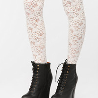Textured Lace Over-The-Knee Sock