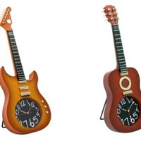 Guitar Wall Clock - £12.99 - A great range of Under £25 gifts and homewares from The Contemporary Home Online Shop