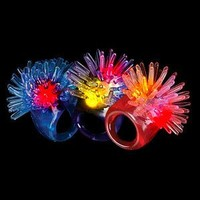 Fun Central I542 LED Jelly Porcupine Rings - Assorted Colors