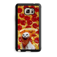pizza cat kitten hipster case for samsung galaxy note 5 note edge