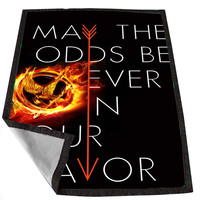 Hunger Games Quote may the odds be ever in your favor b3590f0d-384b-41b9-adc9-cb5240794d0d for Kids Blanket, Fleece Blanket Cute and Awesome Blanket for your bedding, Blanket fleece *02*