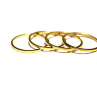 Vida Kush Set of Two Stackable Knuckle Rings Gold