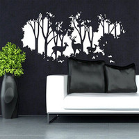 Forest Deers art nursery wall decal