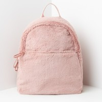 Missguided - Pink Faux Fur Backpack