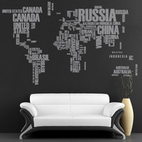 World Maps curated by wallartdecals  on ArtFire.com