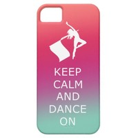 """Colorguard """"Keep Calm and Dance On"""" iPhone 5 Cases"""