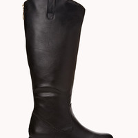 FOREVER 21 Classic Riding Boots Black 6