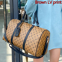 LV Louis vuitton classic letter printing large capacity men's and women's handbags travel bag luggage bag