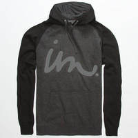 Imperial Motion Curser Perf Mens Reflective Hoodie Charcoal  In Sizes
