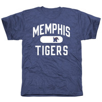 Memphis Tigers Athletic Issued Tri-Blend T-Shirt – Royal